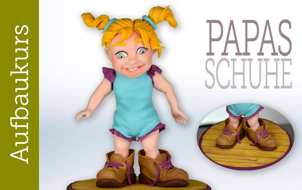 Aufbaukurs Modellieren mit Fondant - Papas Schuhe