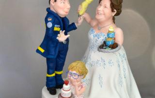 Torten Topper - Hochzeitsfigur Fondant_zwei Berufe in der Ehe vereint